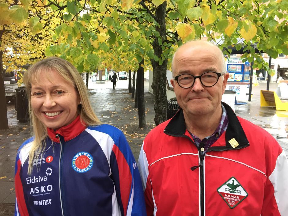 Ingrid Robøle (Hamar skiklubb) og Erik Grøndalen (Hamar o-klubb)