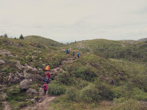 På tur til Bjørdalsfjellet via Paradisskaret og Mattirudlå