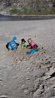 Leik på sanden