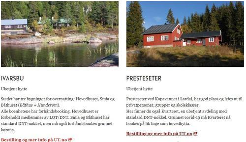 Hyttebooking på UT.no