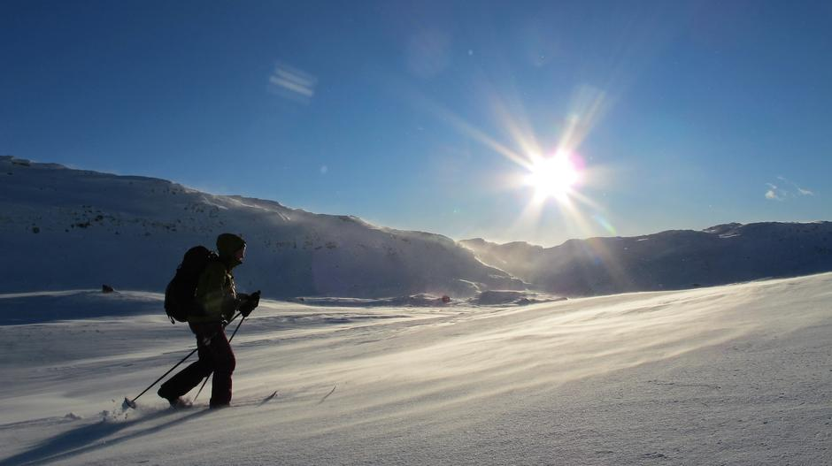 Vinterlandskap rundt Gullhorgabu turisthytte. Sabine Koch.