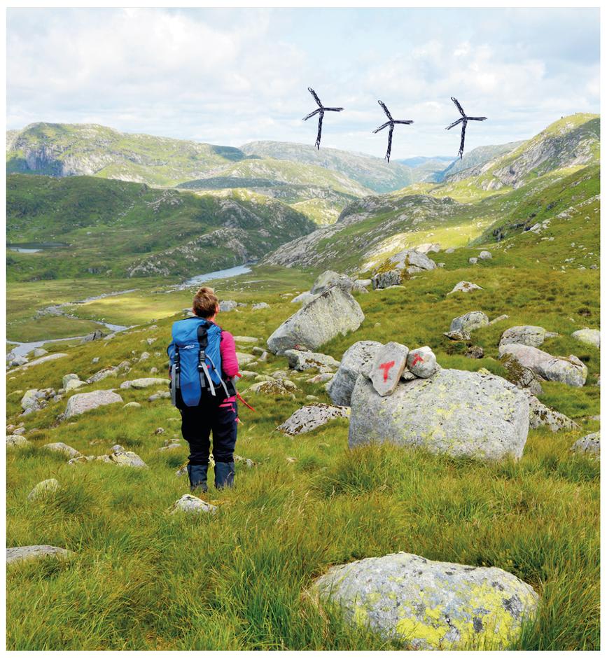 NY UTSIKT: Bjerkreimsheiene er et av områdene i Rogaland som er pekt ut for mulig vindkraftubygging, til tross for at NVE skriver at dette er et svært viktig friluftsområde.
