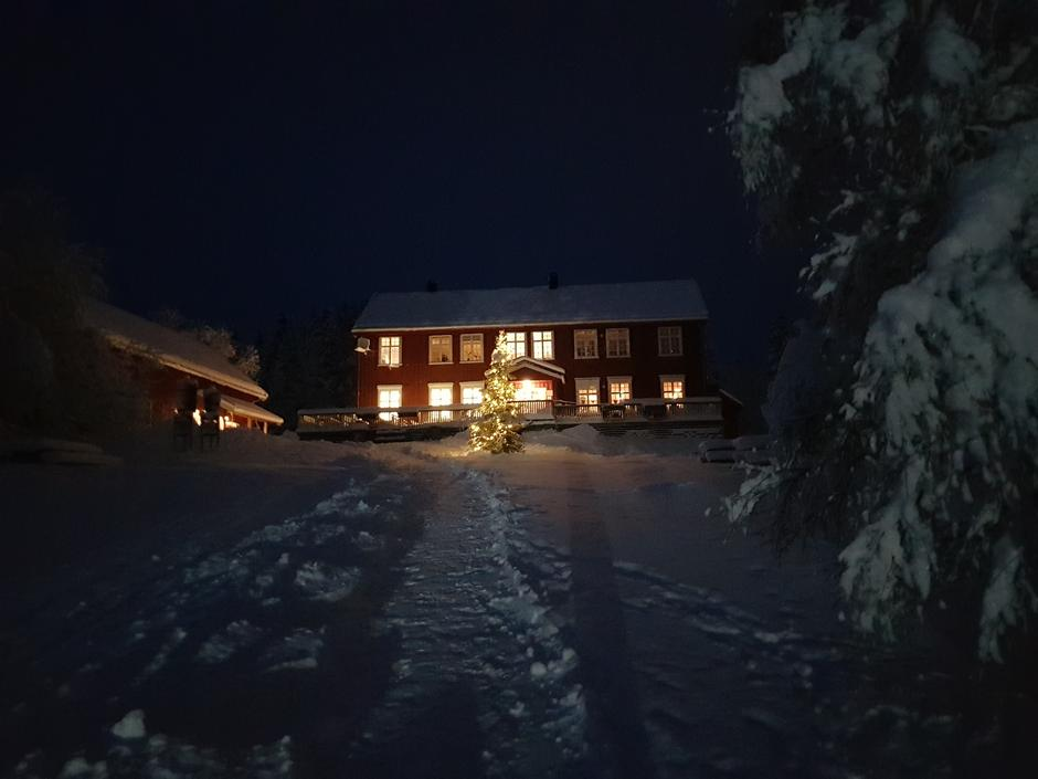 Rønningen i vinterdrakt