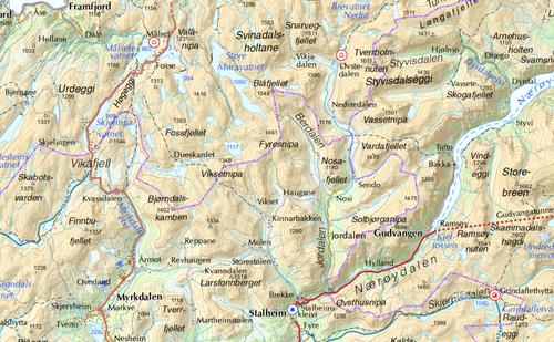 Kart over området.