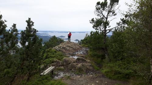 Utsikt fra toppen av Lyshornet