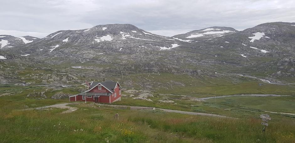 13.07. Ved Hallingskeid. Fine forhold for sykling på Rallarvegen og tur langs T-merka stier.