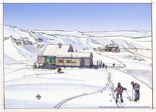 Ny hytte på Høgevarde