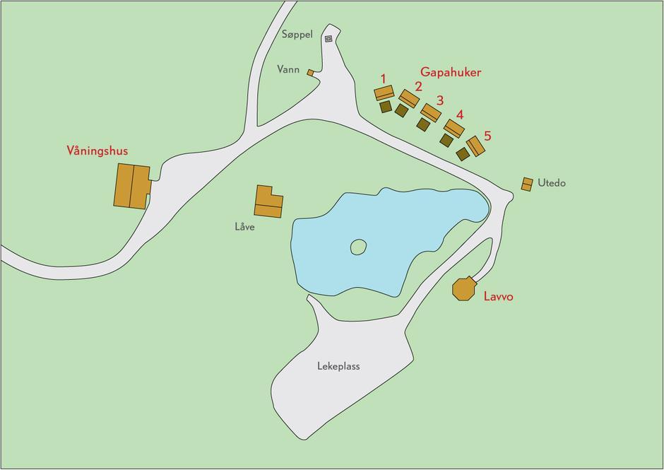 Kart over Nedre Gupu.