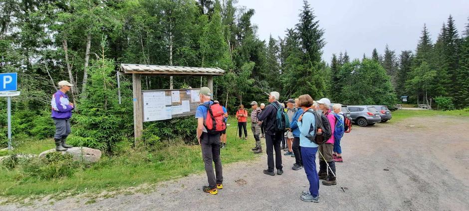 Turen starte ved Svartbekken parkeringsplass.