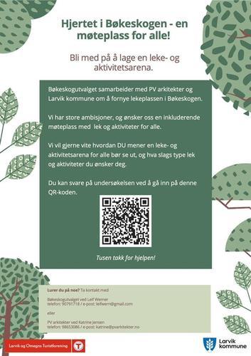 Spørreskjema om lekeplass i Bøkeskogen