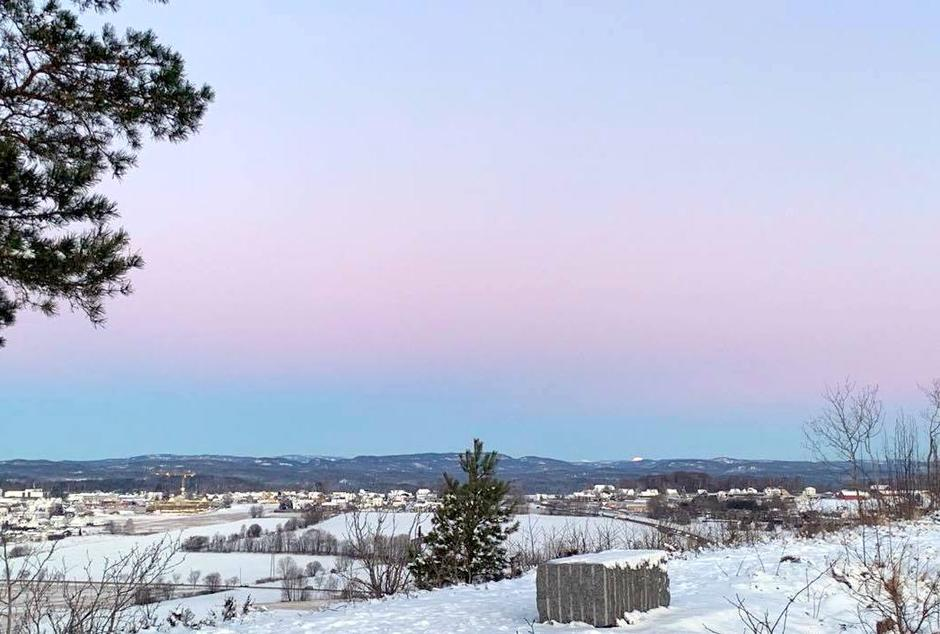 Utsikten mot nord/vest fra Mokollen