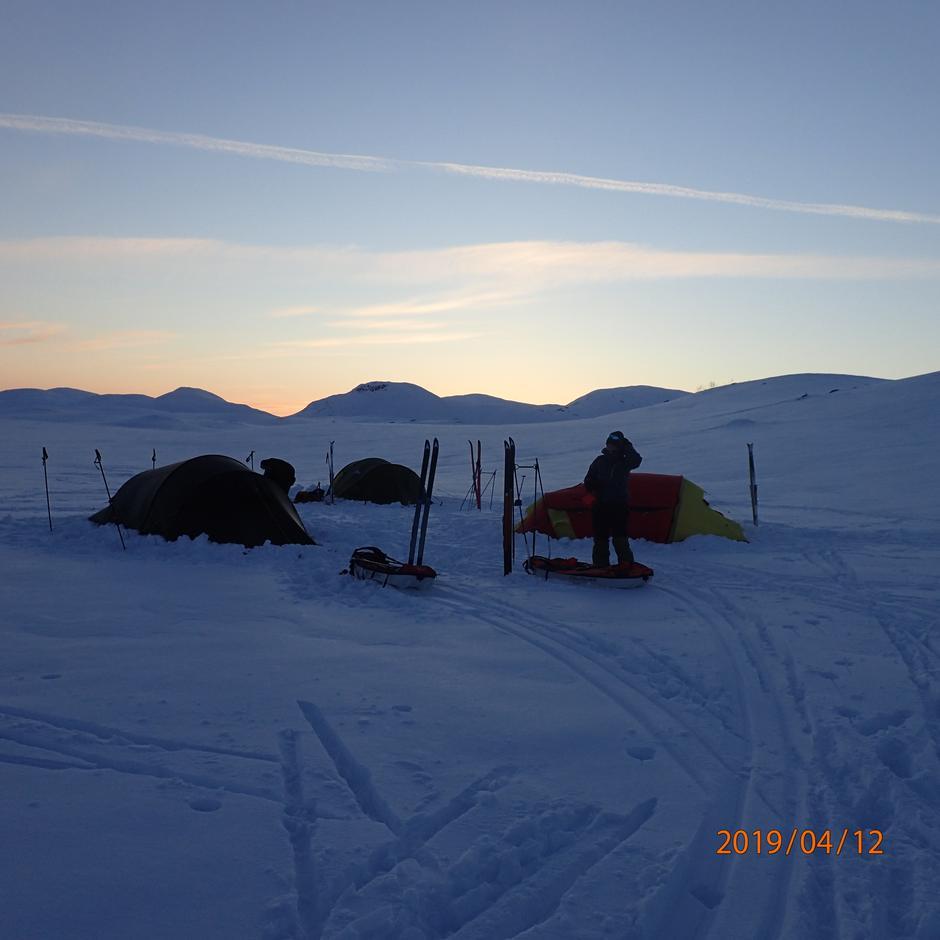 teltcamp vinter