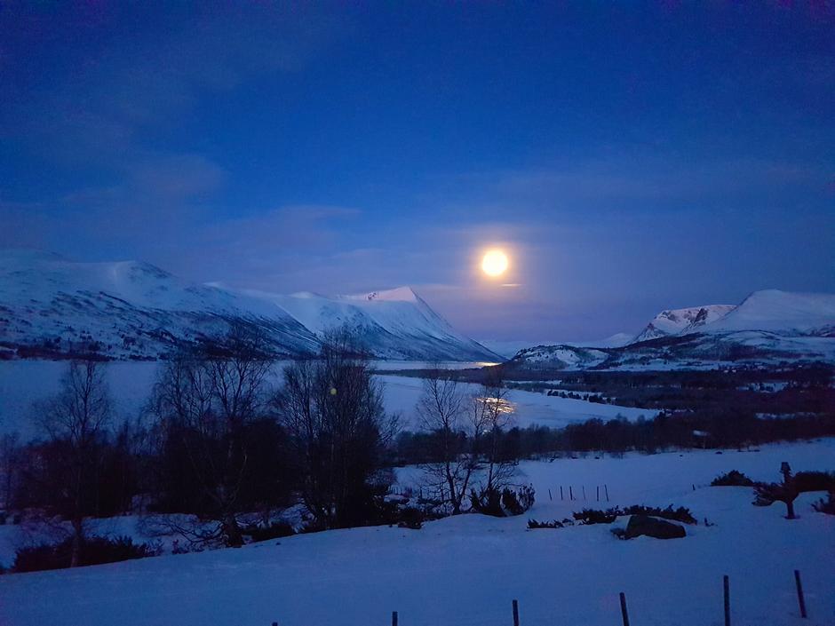 Måneskinn i Gjevillvassdalen.