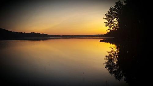 Solnedgang på Vansjø, Viken