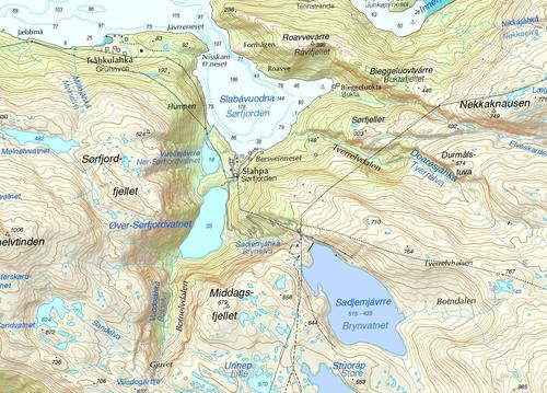 Info om anleggsarbeid i Sørfjorden, Tysfjord