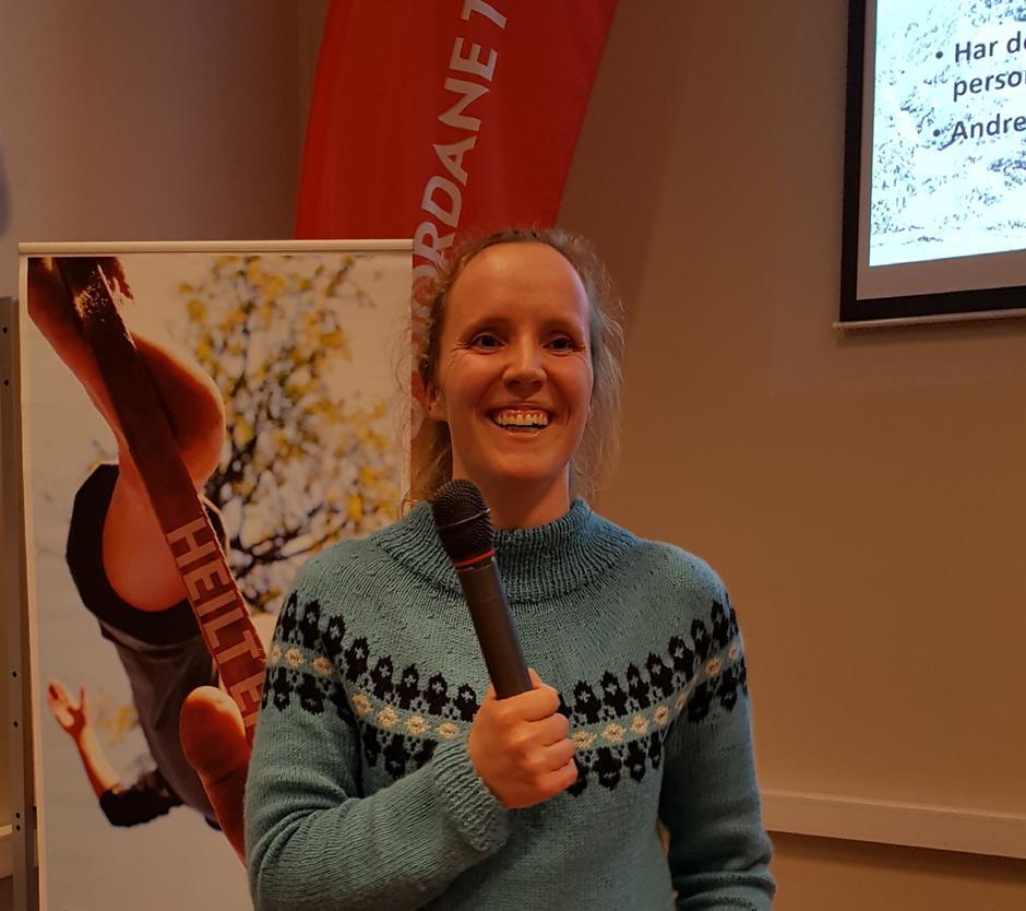 Silje Marita Vallestad hadde innlegg på Møteplassen fredag og orienterte om utvalet sine mål og strategiar og ba om innspel frå salen i høve aktivitet.