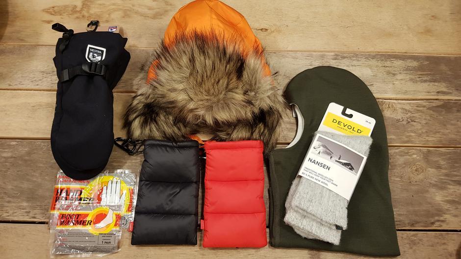Hold varmen i vinter. Mobilpose i dun og.