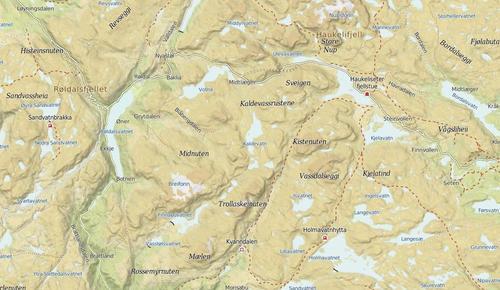Haukelitriangelet: Haukeliseter-Kvanndalen-Holmavatn