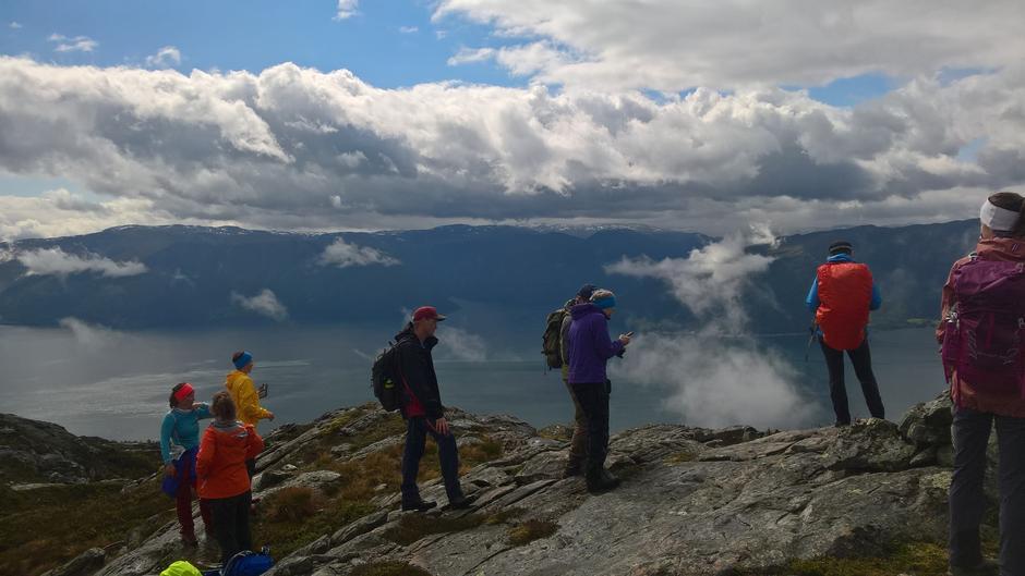 Utsikt over Sognefjorden mot Fuglesetfjorden, Svartemyr og Åkre