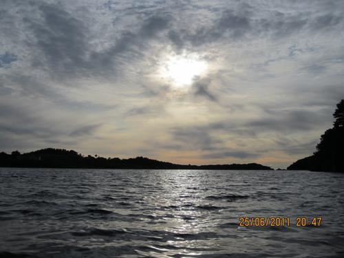 Kveldsstemning ved sjøen
