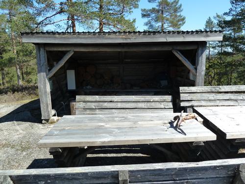 Gapahuken på Klavfjell.