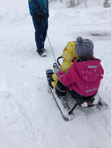 17. mars var det duket for aking, ski og bål ved idrettsplassen i Aurdal med Barnas Turlag