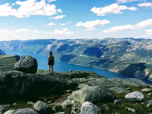 Lysefjorden, på toppen av flørli.