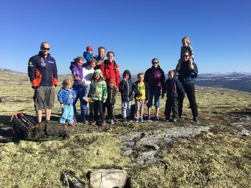 Grunnet vått terreng ble barneturen flyttet fra Ståkåhøe til Brånåhøe