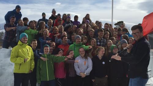 Rekord-deltaking på DNT Ung  landsmøtet