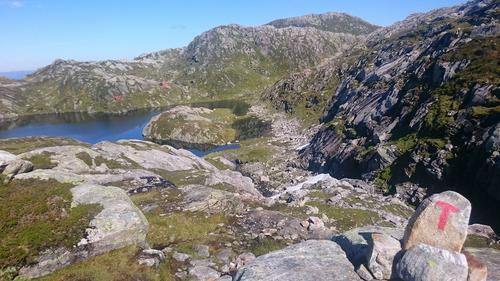 På vei til Gullhorgabu med Høgabu i bakgrunnen