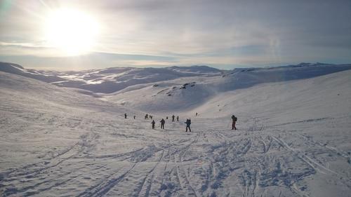 Vintertur på Hallingskeid 2016 - Skitur tilbake til hytten.