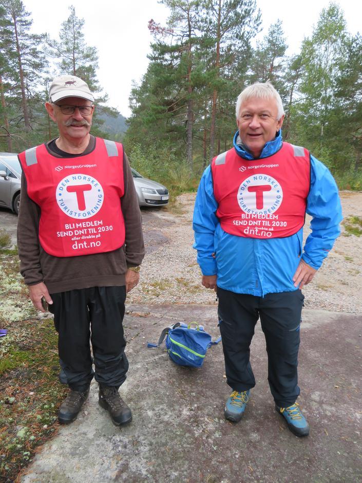 Turleiarane Kåre Dalane og Jan Vidar Østerholt.