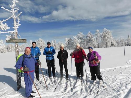 Skitur på Rørmyra om Fjortentjern