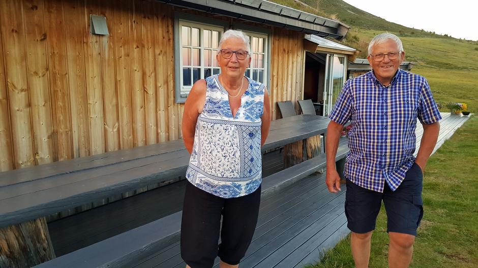 Berit og Arne Nefstad på Sørre Hemsingstølen.