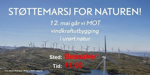 Støttemarsj for naturen søndag 12.mai