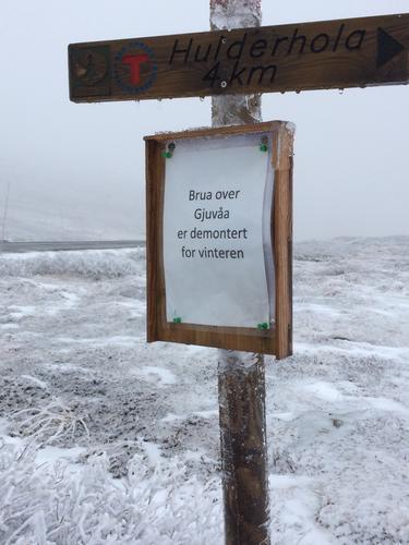 Brua over Gjuvåa demontert
