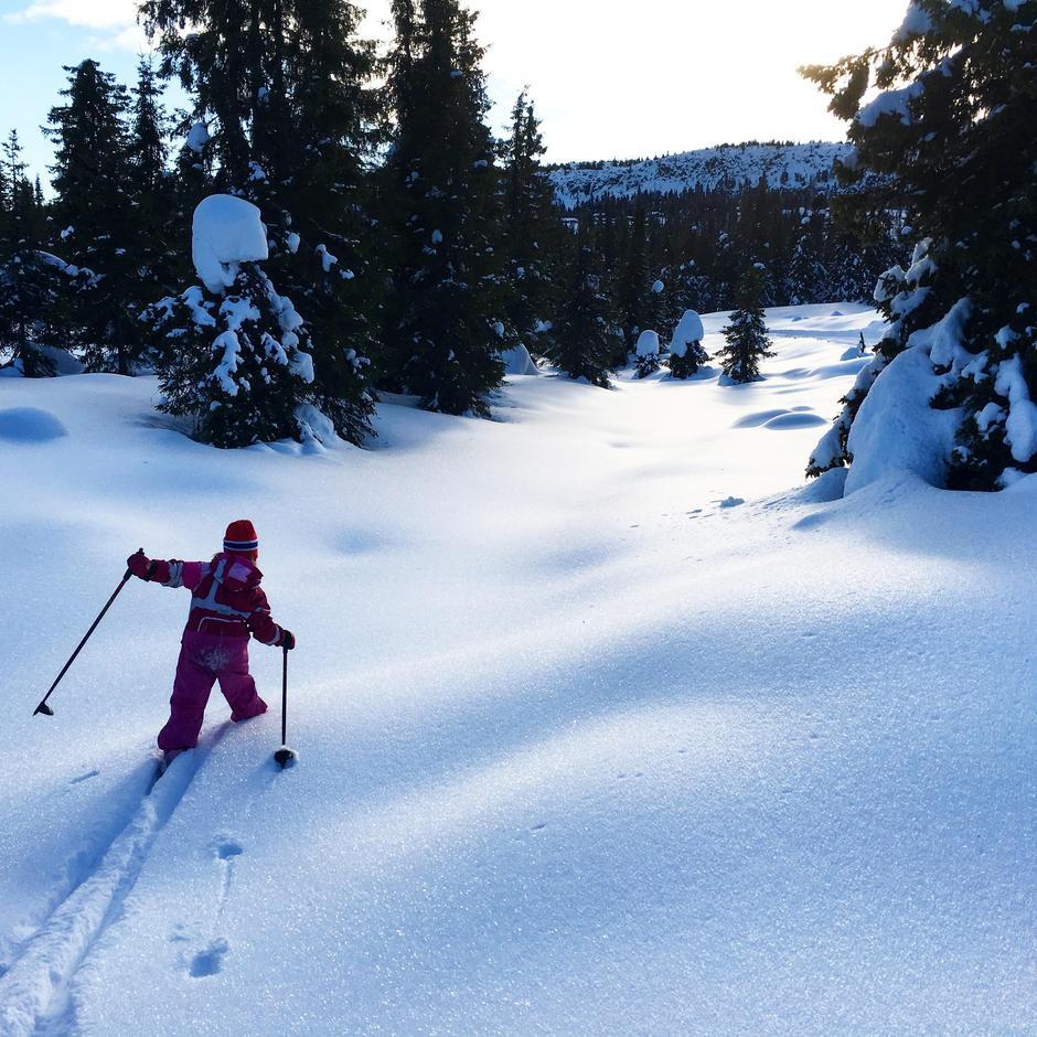 Gå på ski uten spor er en av aktivitetene i Kul Tur-appen