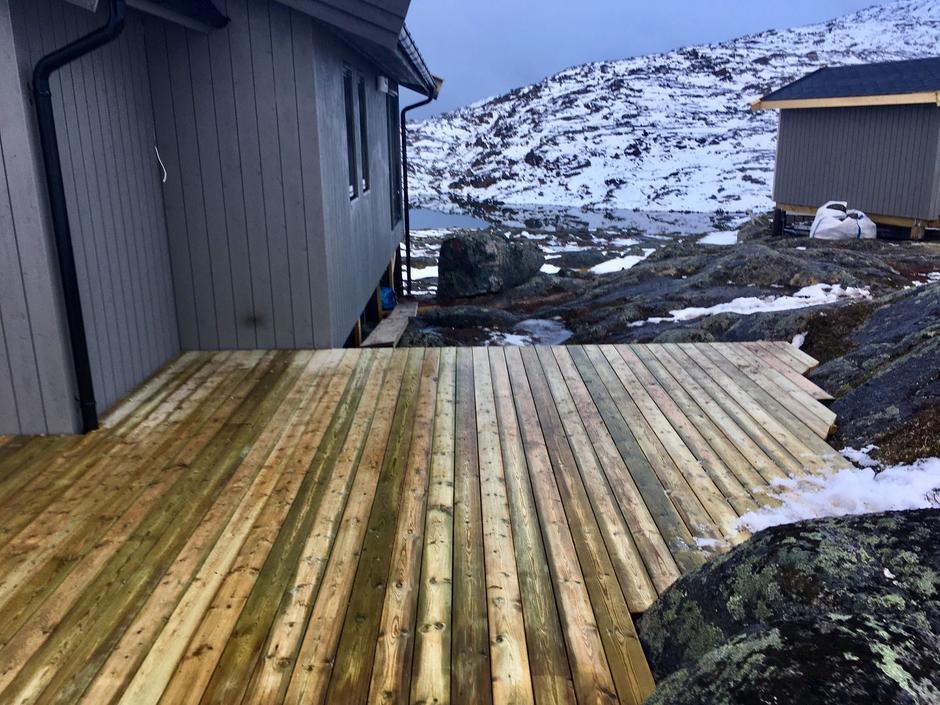 Plattingen rundt den nye Haakonsbu