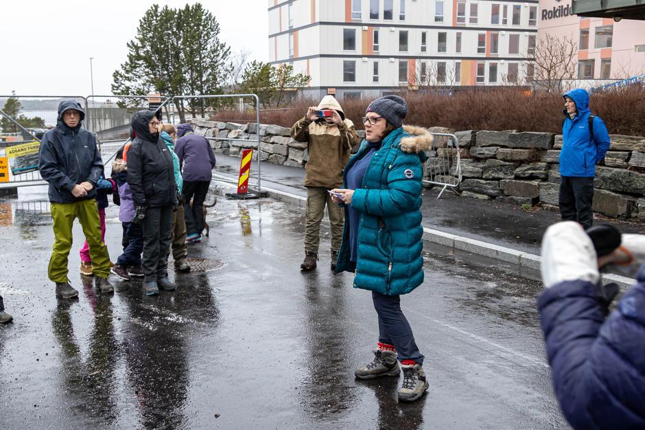 Britt Engvig Hjelle fra Kulturenheten i Kristiansund kommune var med på åpningen.