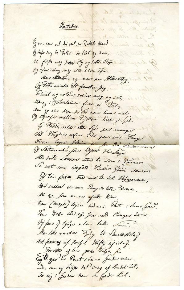 Pantebrevet fra Vinje til konsul Thomas Heftye
