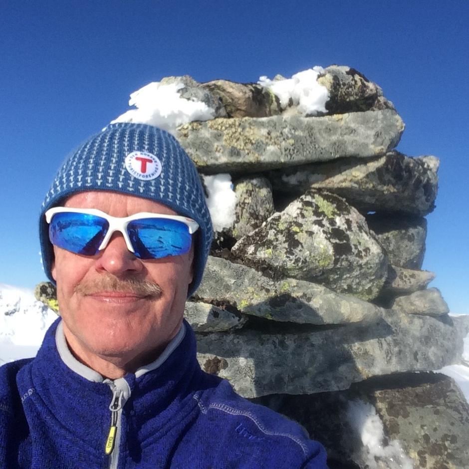 På toppen, 1165 moh.