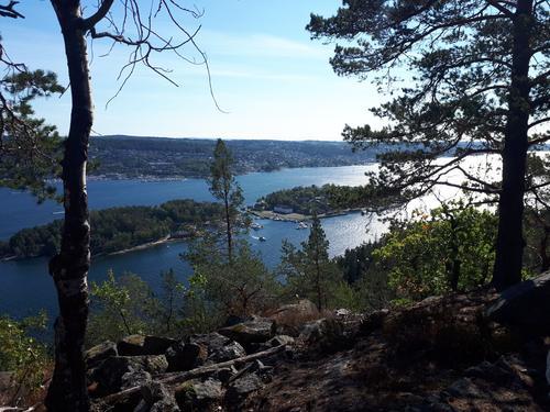 Utsikt fra Håøya mot Oscarsborg