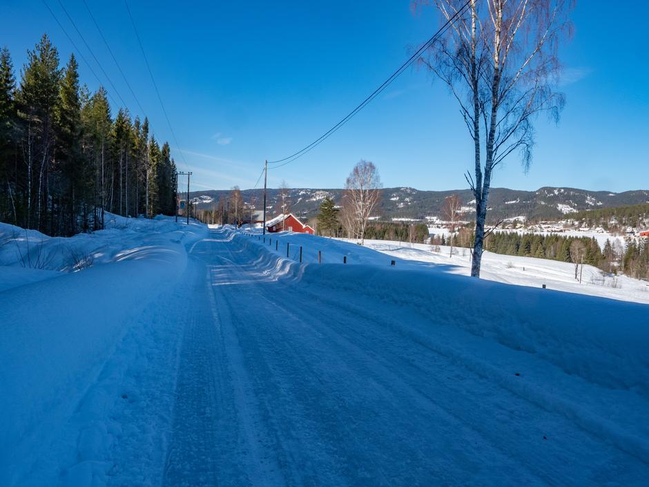 Det er helt sikkert ikke så mye snø når vi skal gå årets første kveldstur.