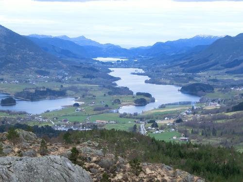 Utsikt fra Ørnaberget