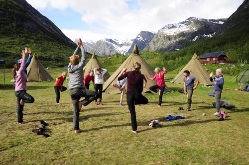 Yoga på BaseCamp
