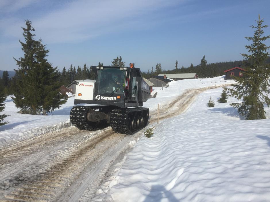 """Beltevogn på """"snøvei"""" er en skånsom transportform"""