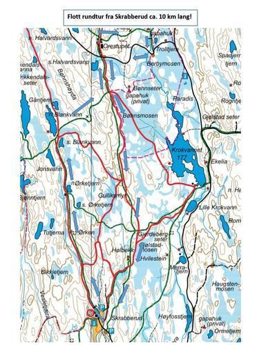 Turtips i nærområdet - lengre tur fra Skrabberud, Rakkestad