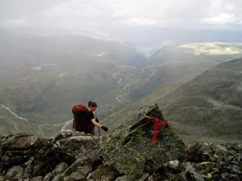 Nedstigning fra Fannaråken mot Turtagrø Foto: Hilde Løken Magnussen