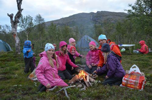 Barnas Turlag på telttur