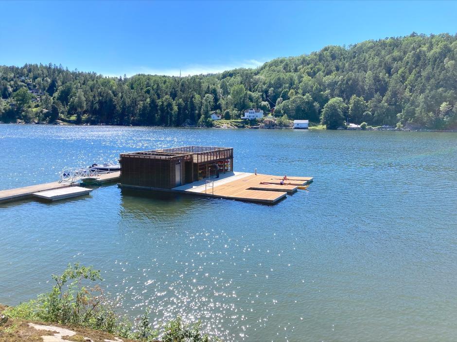 Det nye kajakkanlegget på Breivoll ligger vakkert til i Bunnefjorden